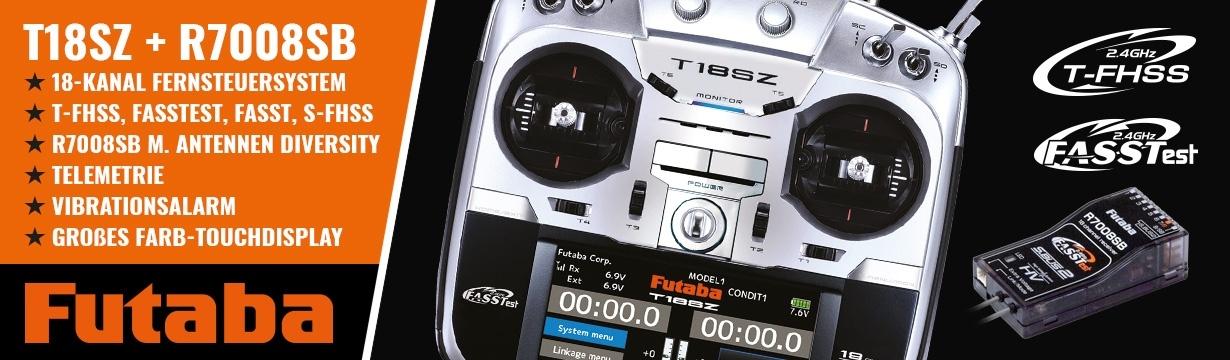 FUTABA T18SZ 2.4GHz + R7008SB M2