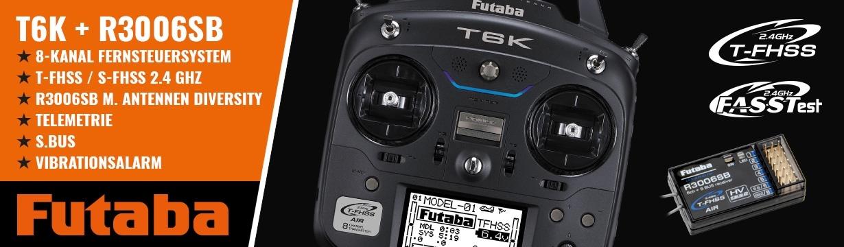 FUTABA T6K V2.0 8-Kanal FS 2.4GHz T-FHSS+R3006SB M1