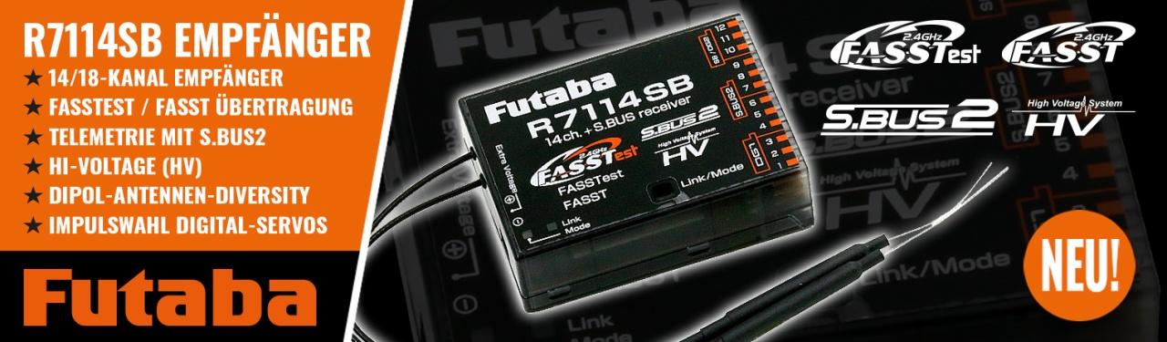 FUTABA Empfänger R7114SB 2,4 GHz FASSTest/FASST