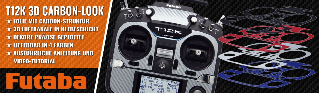 T12K 3D-Folie Carbonlook rot