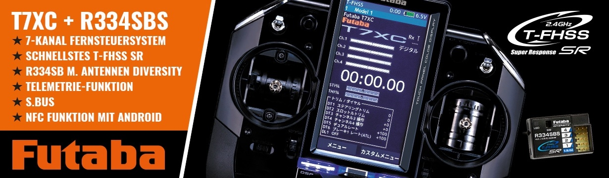 FUTABA T7XC 2.4GHz + R334SBS